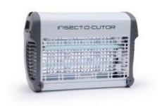 EXOCUTOR 16 Watt  Stromgitter UV Insektenvernichter Metall weiss