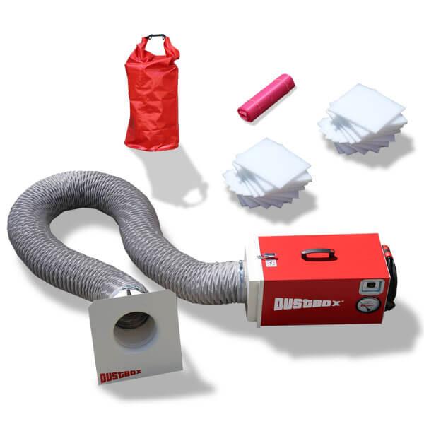 DustBox 1000 Hochleistungs-Luftreiniger H14 als Sorglos-Paket