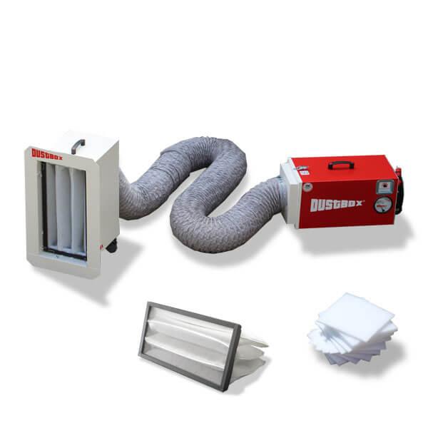 DustBox 1000 Hochleistungs-Luftreiniger H14 als Taschenfilter-Paket