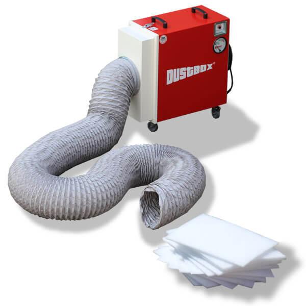 DustBox 2000 Hochleistungs-Luftreiniger H14 als BG Bau-Paket