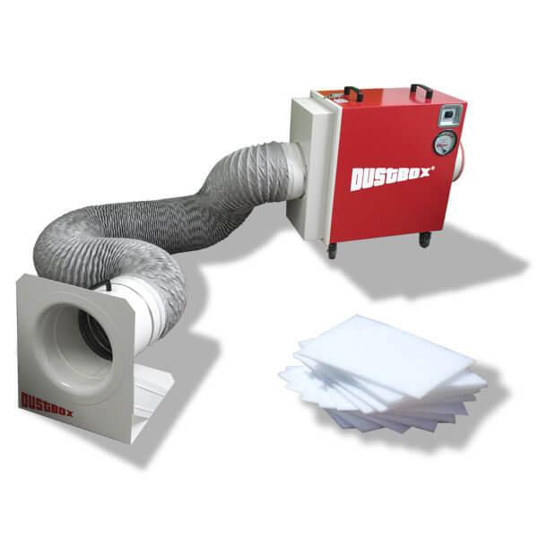 DustBox 2000 Hochleistungs-Luftreiniger H14 als Plus-Paket