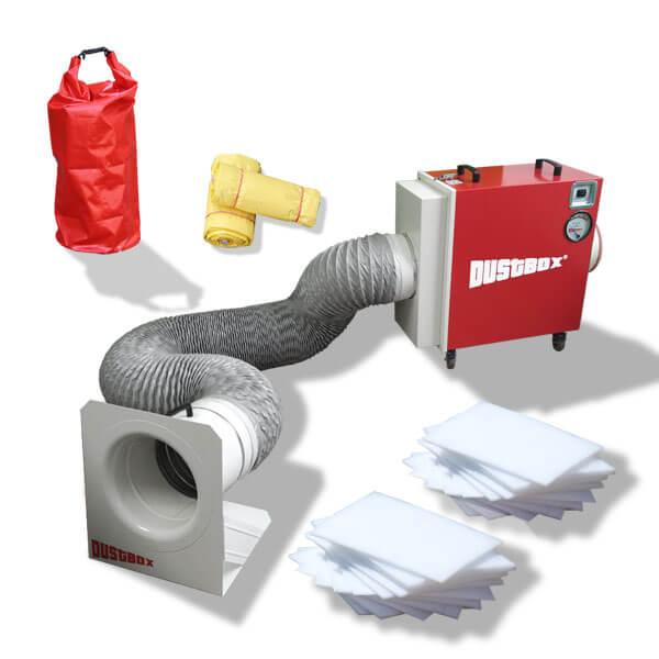 DustBox 2000 VSC Hochleistungs-Luftreiniger H14 als Sorglos-Paket