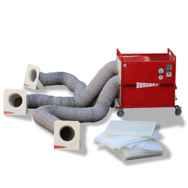 Plus-Paket DustBox 6000 Hochleistungs-Luftreiniger H13