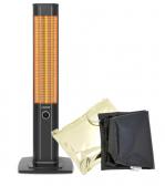 VASNER Infrarot 25R-Carbon Stand-Heizstrahler mitAirCape schwarz