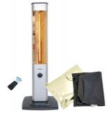 VASNER Infrarot 25R-Carbon Stand-Heizstrahler mit AirCape silber