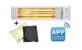 VASNER Infrarot-Heizstrahler Appino 20 weiß + App + AirCape