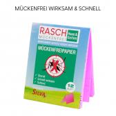 SILVA RASCH MÜCKENFREIPAPIER  der 84 Std. Mückenschutz 12Blatt