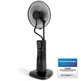 VASNER Stand-Ventilator Cooly FAN mit Sprühnebelkühlung Black