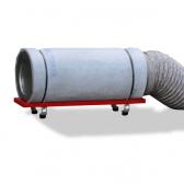 Aktivkohlepatrone mit Rahmengestell, mit Gummifüssen und Anschlussmaterial für DB 1000