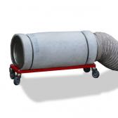 Aktivkohlepatrone mit Rahmengestell, mit Rollen und Anschlussmaterial für DB 1000