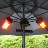 VASNER Umbrella X30 Schirm Heizstrahler 3000 W IP65 Schwarz 20/55