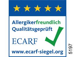 ECARF Siegel Allergikerfreundlich Qualitätsgeprüft