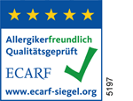 ECARF Zertifikat - Auszeichnung für allergikerfreundliche Produkte und Dienstleistungen